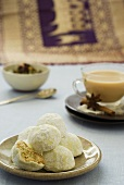 Biscuits and spiced tea