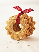 Ring biscuits, tied together