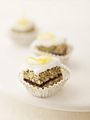 Filled poppy seed squares