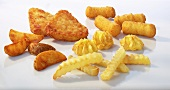 Assorted frozen potato products
