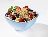 Muesli with fresh berries and wheat sprouts