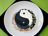 Black and white sesame ice cream (Asia)