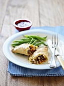 Pasty with green beans