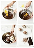 Making chocolate mousse