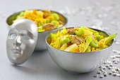 Chicken, sweetcorn, pineapple, celery & grape salad with curried mayonnaise