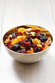 Dried fruit and dried berries in a bowl