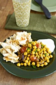 Chick-pea stew with tomatoes and green chilli (Lebanon)