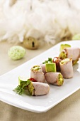 Easter brunch: veal rolls with avocado