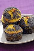 Poppy seed muffins with saffron