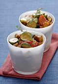Two portions of ratatouille