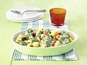 Gnocchi and broccoli bake