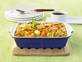 Mixed vegetable bake with egg