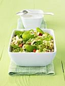 Green pasta salad