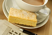 Butter shortbread (type of British biscuit) with tea