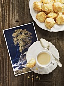 Amaretti from Maggia Valley (Switzerland) & cup of espresso