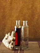 Ingwerwurzel, Sojasauce und Reiswein (Chinesische Küche)