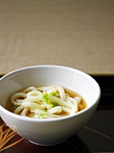 Miso soup with soba noodles (Japan)