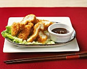 Chicken tonkatsu with soy sauce, Japan