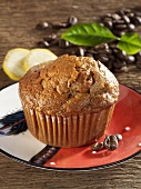 Banana and coffee muffin