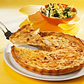 Chicory quiche with Comté cheese