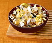 Chicory and apple salad with Roquefort and walnuts