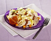 Chicory salad with Mimolette cheese and bacon