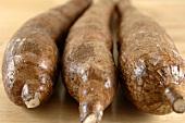 Three manioc roots
