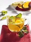 Mango punch with lemon balm