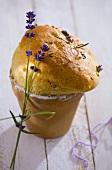 Lavender bread in a flowerpot