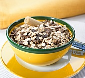 Chocolate muesli in a bowl