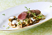Fillet of wild hare on Burgundy risotto