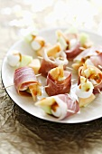 Involtini all'ischitana (Ham rolls with mozzarella)