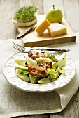 Chicory, bacon and pear salad