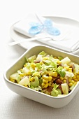 Chicken, celery, sweetcorn and pineapple salad