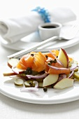 Smoked salmon and apple salad