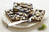 Mazurek with almonds (Polish Easter cake)