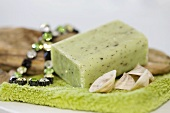 Herb soap with necklace and shells