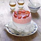 Strawberry ice cream soufflé
