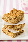 Home-made muesli slices