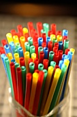 Coloured drinking straws