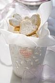 Heart-shaped biscuits to give as a gift