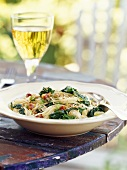Capellini con le cime di rapa (Pasta with broccoli rabe)