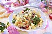 Potato and bean salad with Parmesan