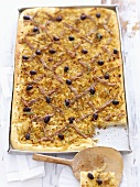 Pissaladière (Onion tart with anchovy fillets and olives)