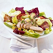 Cobb salad (mixed salad with chicken breast, USA)