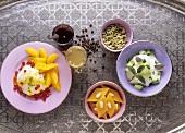 Verschiedene Desserts aus der orientalischen Küche