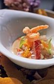 Lobster dish with fennel & orange foam (molecular cuisine)