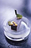 Blueberry and cherry parfait (molecular cuisine)
