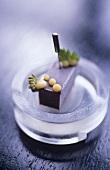 Blueberry and cherry parfait (molecular cuisine)