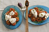 Oven-baked monkfish on gingered tomatoes
